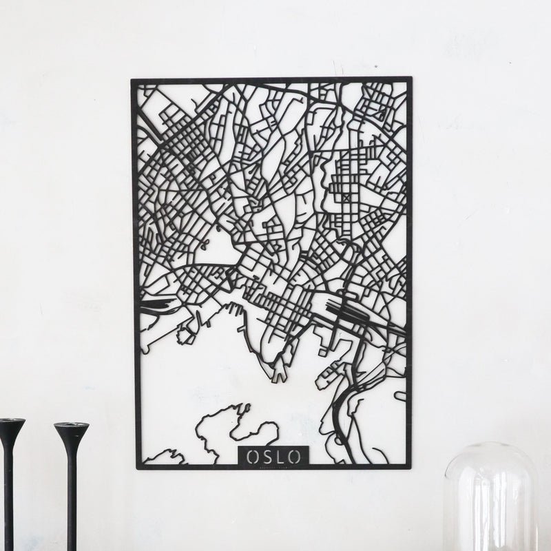 Wooden map of Oslo