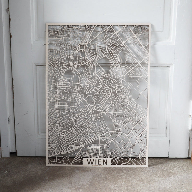 Wooden map of Wien