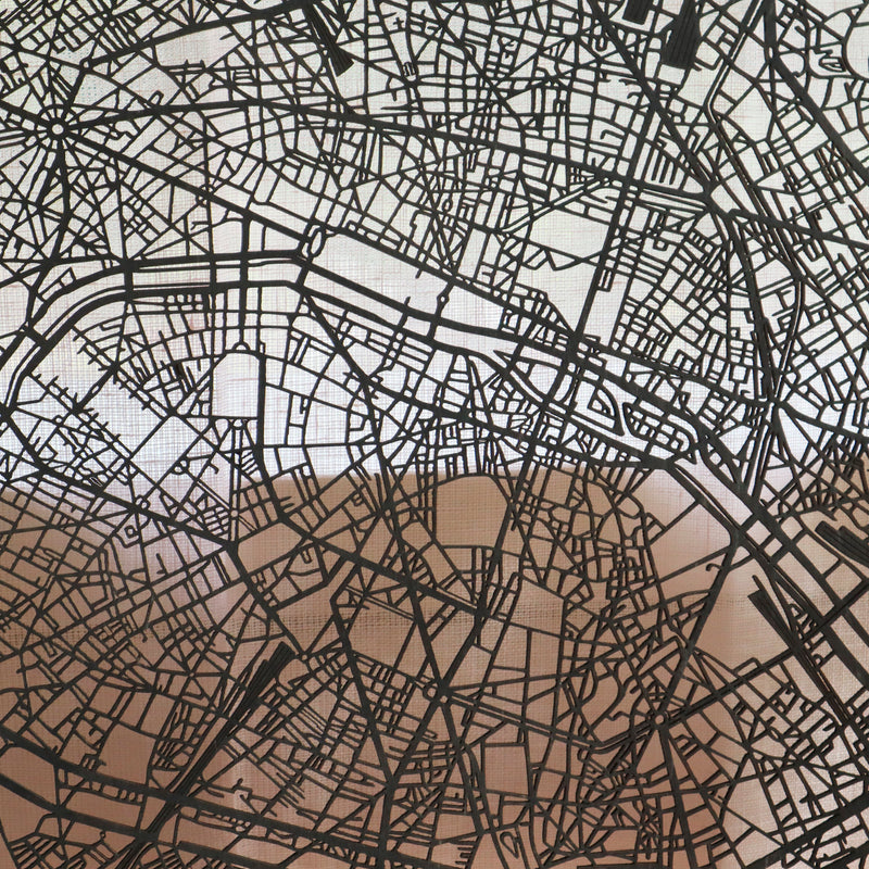 Wooden map of Paris
