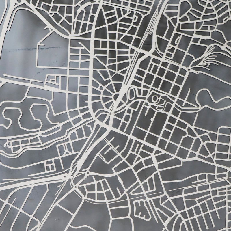 Wooden map of Örebro
