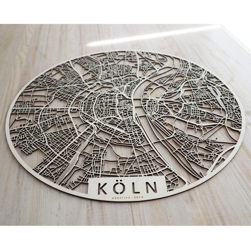 Wooden map of Köln