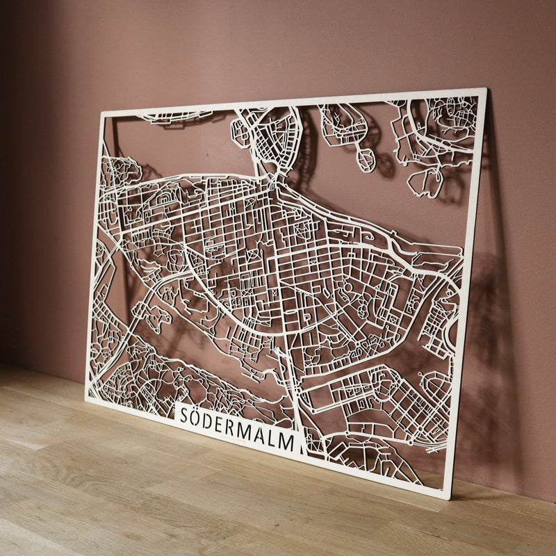Wooden map of Södermalm (Stockholm)