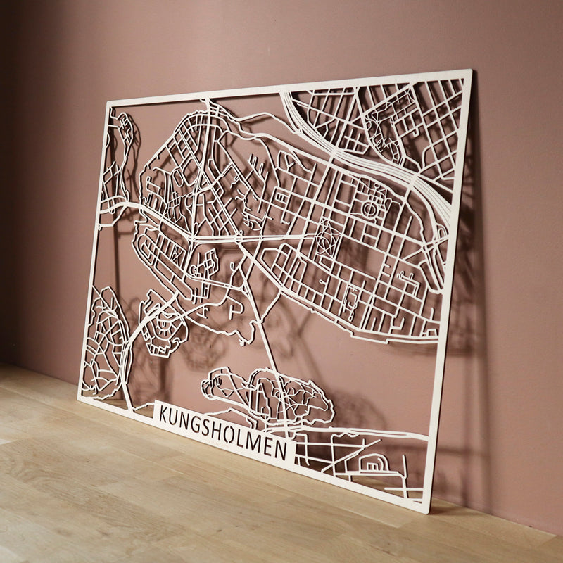 Wooden map of Kungsholmen (Stockholm)