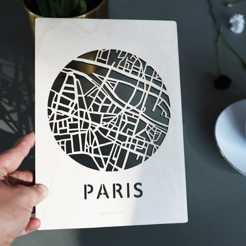 Wooden Paris- post card