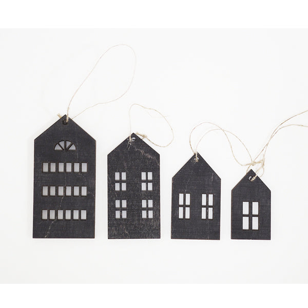 Christmas decor, houses 4 pcs