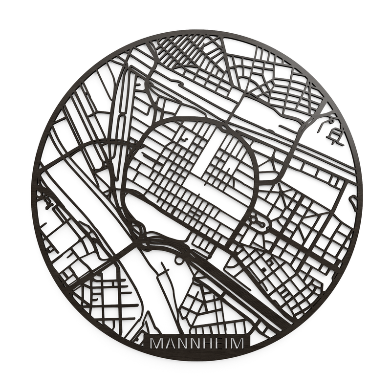 Wooden map of Mannheim