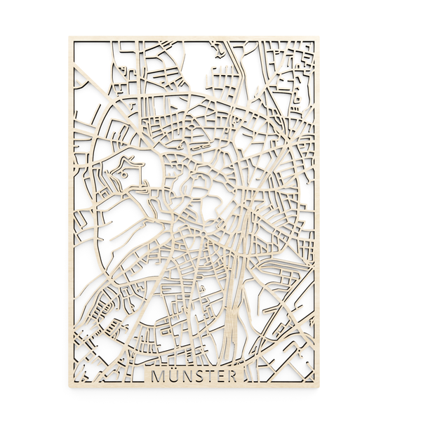 Wooden map of Münster