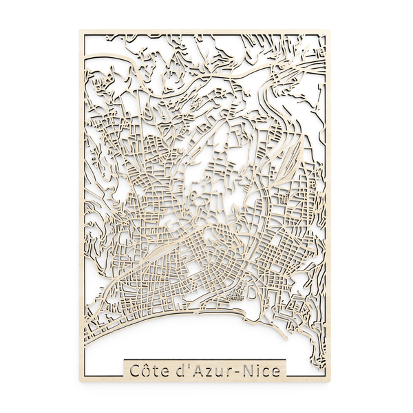 Wooden map of Nice