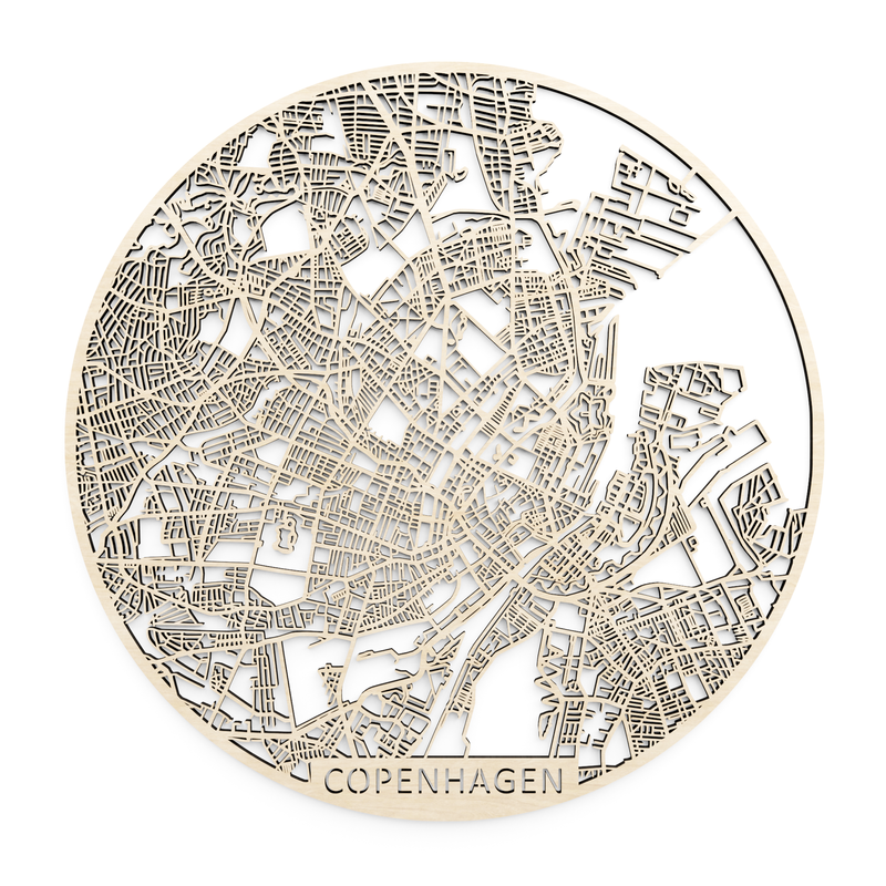 Wooden map of Copenhagen