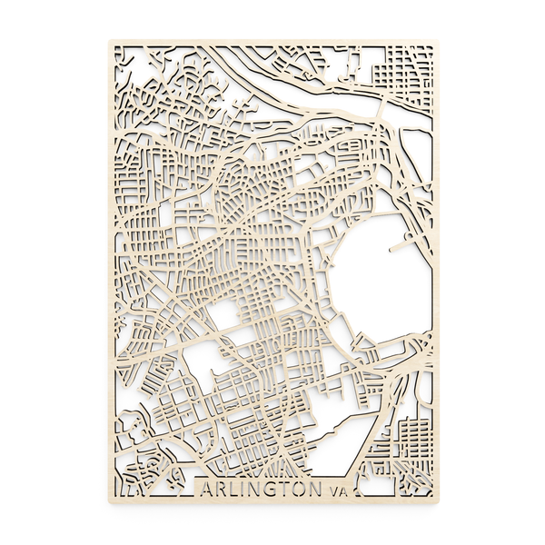 Wooden map of Arlington (Virginia)