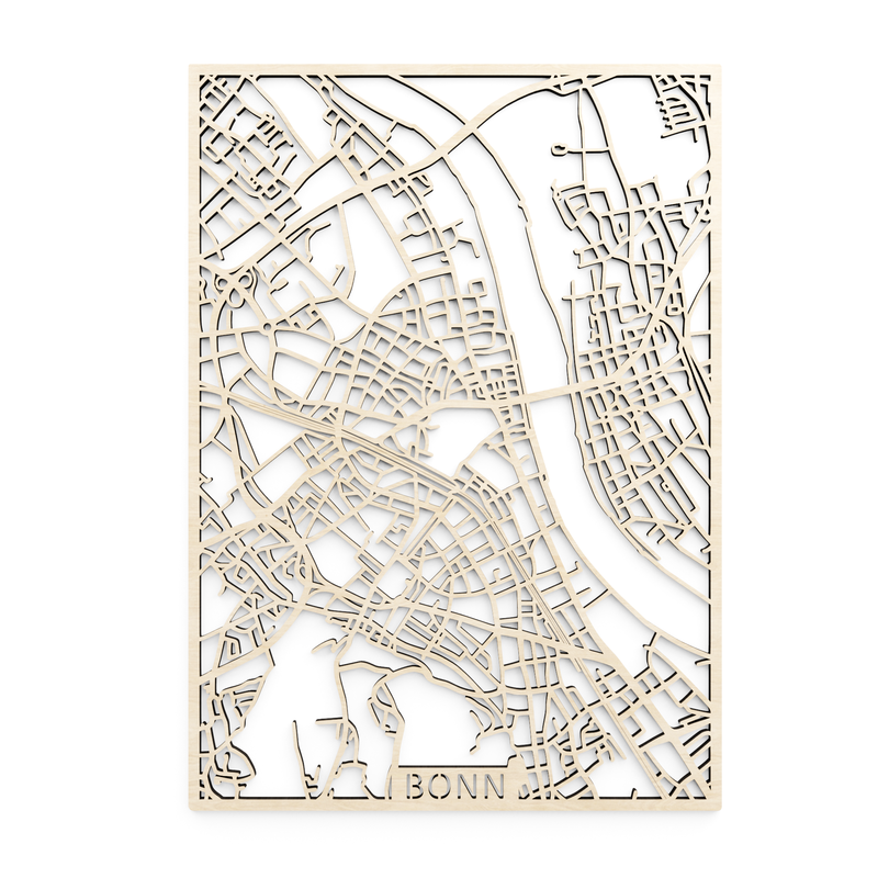 Wooden map of Bonn