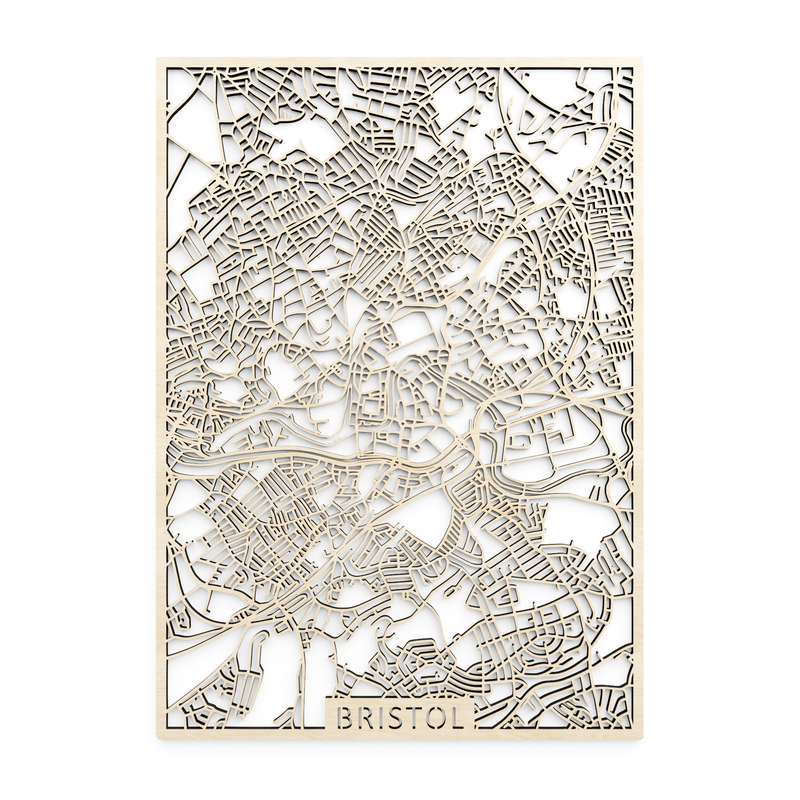 Wooden map of Bristol