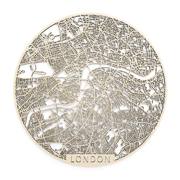 Wooden map of London