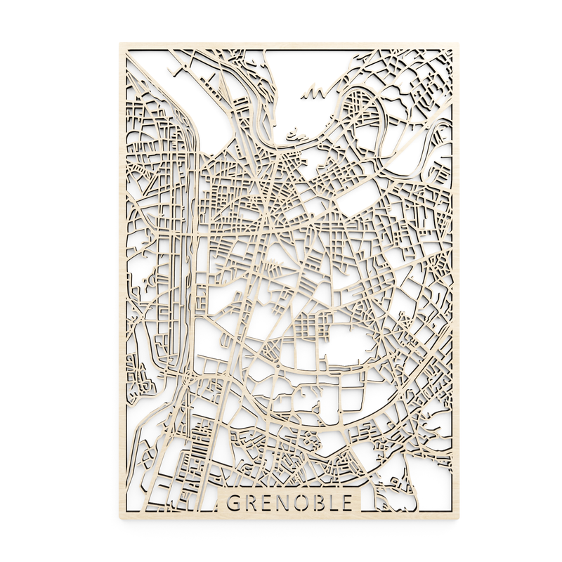 Wooden map of Grenoble