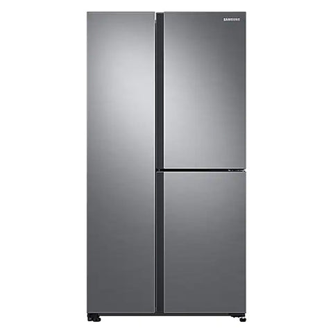 SAMSUNG 24.3 CU.FT. SIDE BY SIDE REFRIGERATOR (SILVER MATTE RS63R5561M9/TC)