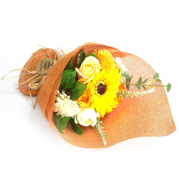 Standing Soap Flower Bouquet - Orange - Gift2U.co.uk - Unique gifts online to You
