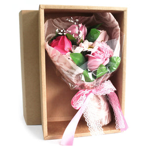 Boxed Hand Soap Flower Bouquet - Pink - Gift2U.co.uk - Unique gifts online to You