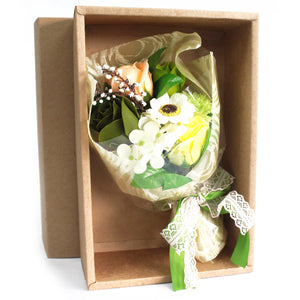 Boxed Hand Soap Flower Bouquet - Greens - Gift2U.co.uk - Unique gifts online to You