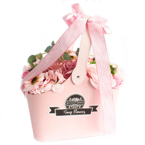 Basket Soap Flower Bouquet - Pink - Gift2U.co.uk - Unique gifts online to You