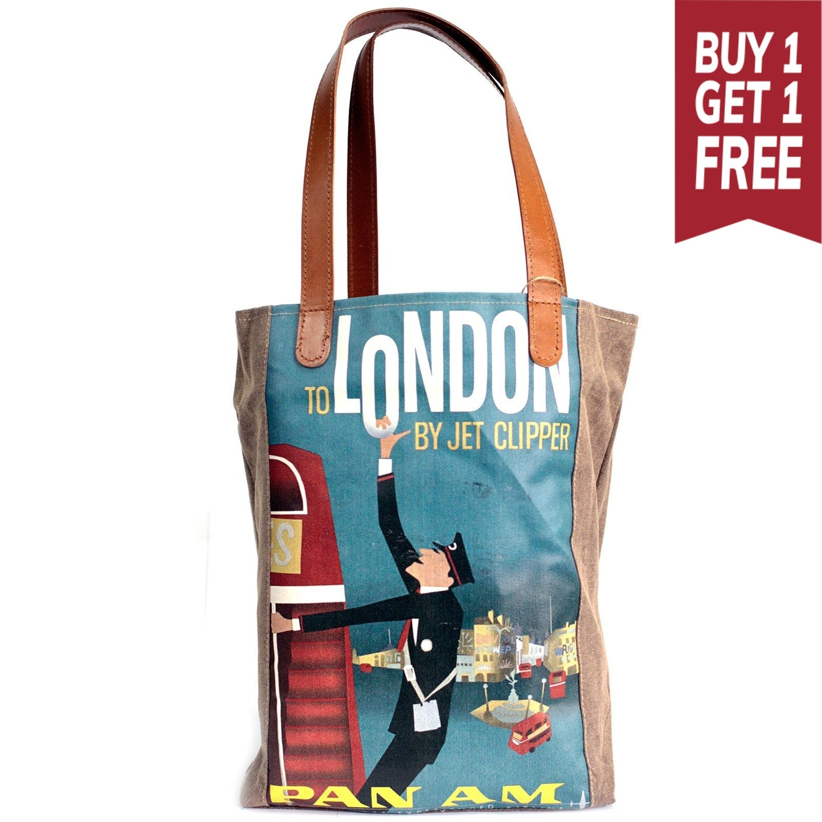 London Vintage Travel Bag - Gift2U.co.uk - Unique gifts online to You