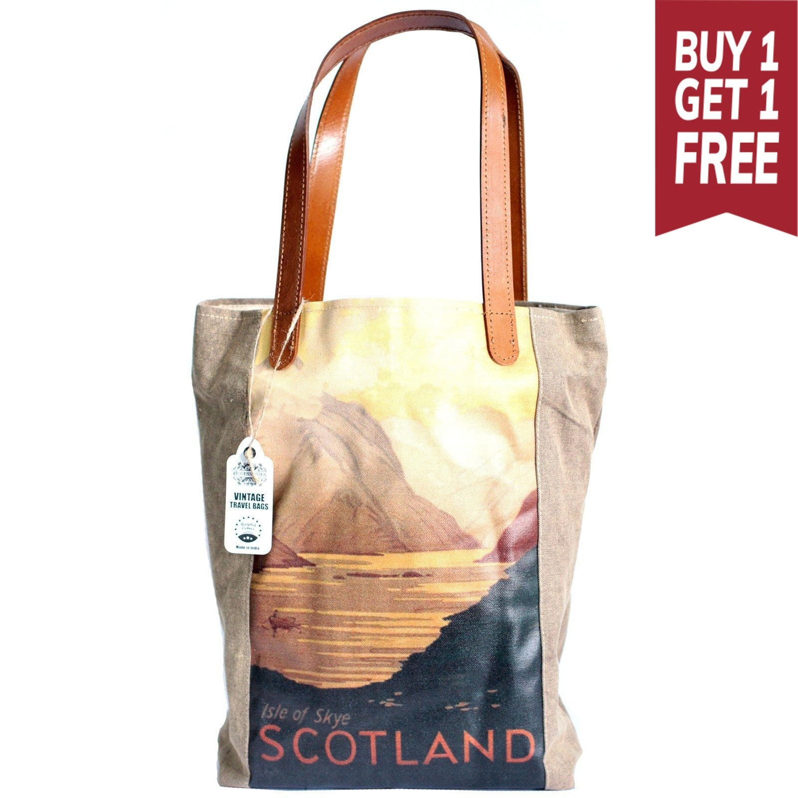 Scotland Vintage Travel Bag - Gift2U.co.uk - Unique gifts online to You