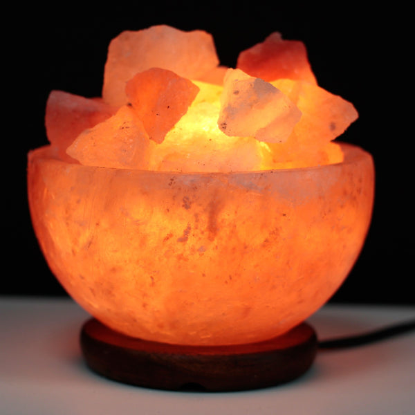 Natural Himalayan Salt Lamp Fire Bowl and Chunks