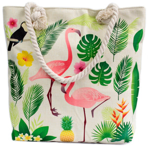 Rope Handle Bag - Flamingo & More - Gift2U.co.uk - Unique gifts online to You