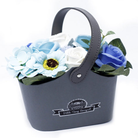 Bouquet Petite Basket - Soothing Blues - Gift2U.co.uk - Unique gifts online to You