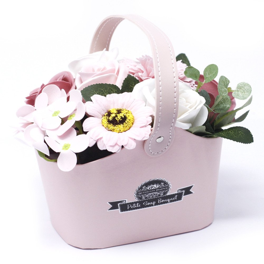 Bouquet Petite Basket - Peaceful Pink - Gift2U.co.uk - Unique gifts online to You