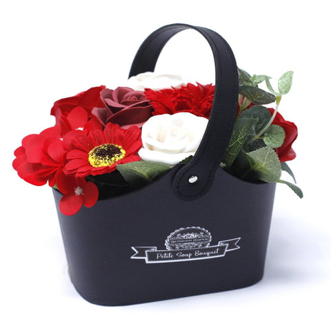 Bouquet Petite Basket - Rich Reds - Gift2U.co.uk - Unique gifts online to You