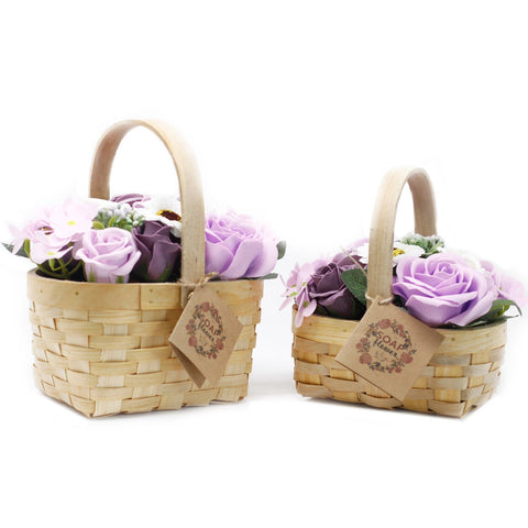 Medium Lilac Bouquet in Wicker Basket - Gift2U.co.uk - Unique gifts online to You