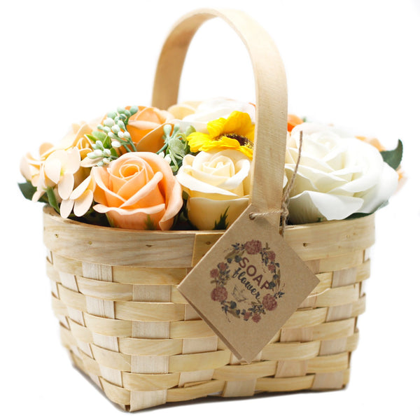 Large Orange Bouquet in Wicker Basket - Gift2U.co.uk - Unique gifts online to You