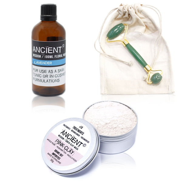 Roller, Pink Face Mask and Floral Water Set - Gift2U.co.uk - Unique gifts online to You