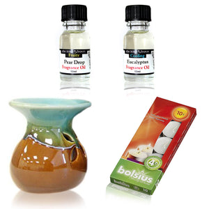 Oil Burner Kit Eucalyptus & Pear Drop - Gift2U.co.uk - Unique gifts online to You