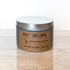 8 oz Tin Candle - Soft Blanket