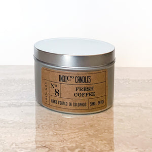 8 oz Tin Candle - Fresh Coffee