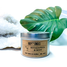 Load image into Gallery viewer, 8 oz Tin Candle - Eucalyptus & Mint