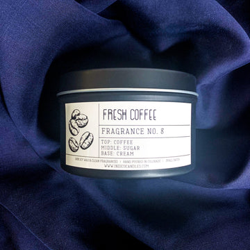 8oz Tin Glass Fresh Coffee