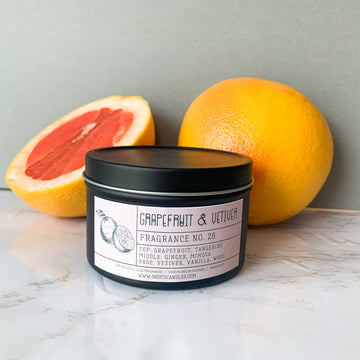 8 oz Tin Grapefruit & Vetiver