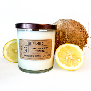 12 oz Glass Jar - Coconut Lemon