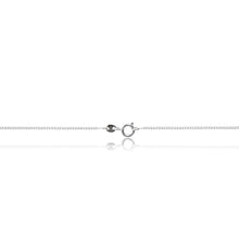 Load image into Gallery viewer, A glamorous platinum finished, rope inspired dazzling cubic zirconia pendant and chain. Trigger clasp chain fastening