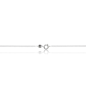 A glamorous platinum finished, rope inspired dazzling cubic zirconia pendant and chain. Trigger clasp chain fastening