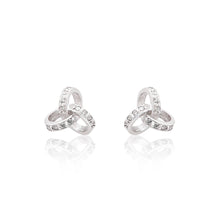 Load image into Gallery viewer, An elegant pair of 925 sterling silver stud earrings with a unique twist detail.
