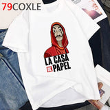 La Casa De Papel T Shirt Men Money Heist Cartoon Graphic Tees