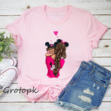 Women's Summer T-Shirts Short Sleeve Cute T-Shirt for Girls Students Lady Tops Tees
