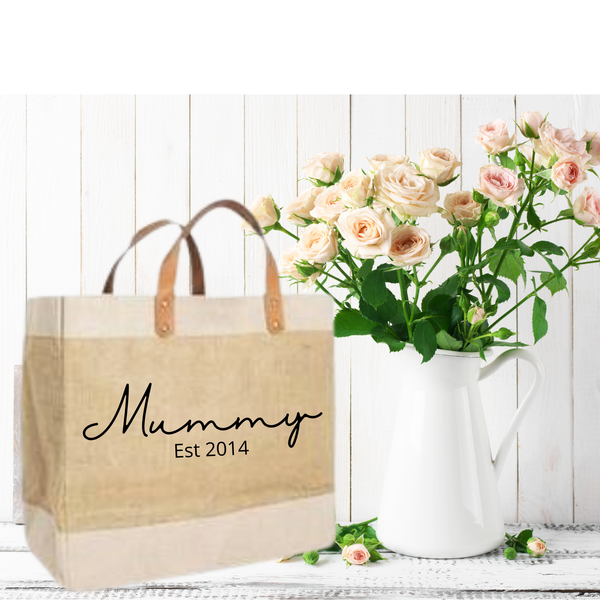 Luxury Personalised Jute Shopper