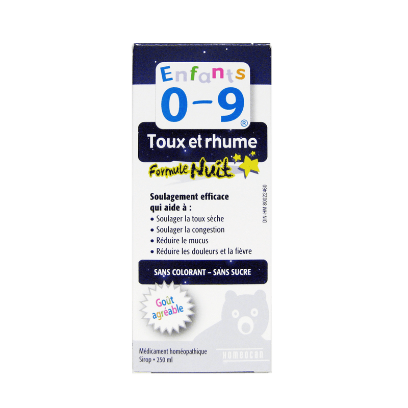 Homeocan Kids 0-9 Cough & Cold Nighttime Formula Syrup 250ml - Maple House Nutrition Inc.