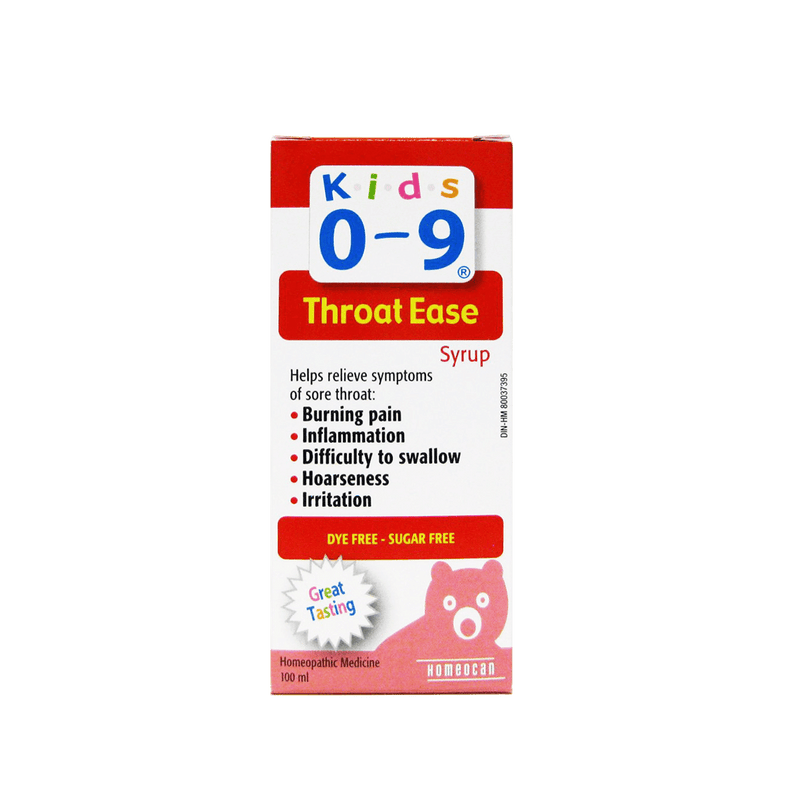 Homeocan Kids 0-9 Throat Ease Syrup 100 ml - Maple House Nutrition Inc.