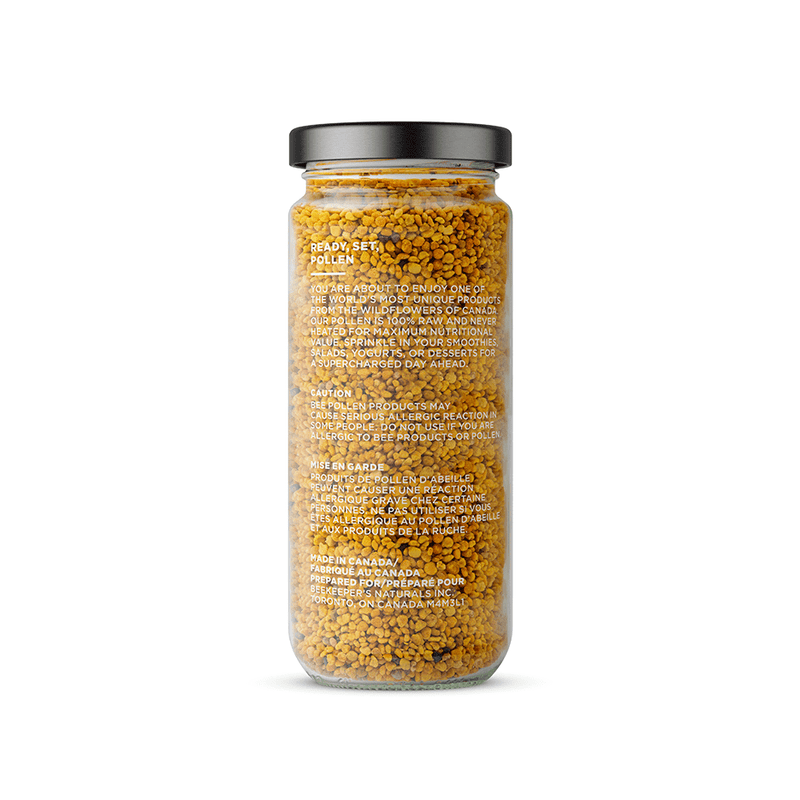 Beekeeper's Naturals 100% Raw Bee Pollen 150g - Maple House Nutrition Inc.