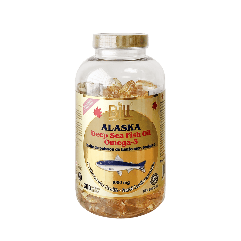 Bill Alaska Deep Sea Fish Oil 1000mg 300 Softgels - Maple House Nutrition Inc.